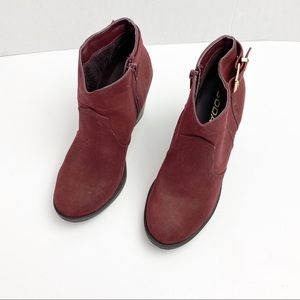 Soda Burgundy Ankle Boots